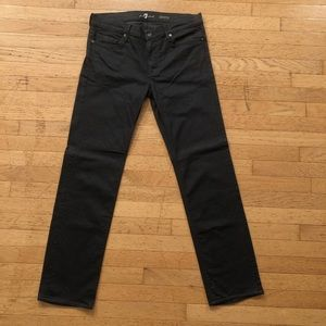 7 For All Mankind Men's Gray Slimmy Jeans